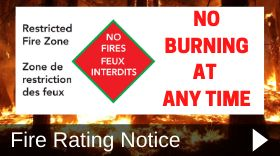 Restricted Fire Zone - No Burning