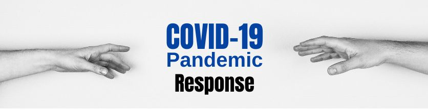 COVID-19 Pandemic Response - image of hands reaching out to each other